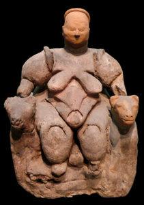 Statua di donna o divinità feminile ritrovata presso il sito di Çatal Höyük - Museo della civiltà anatolica, Ankara, Turchia (photo: tr.khanacademy.org)